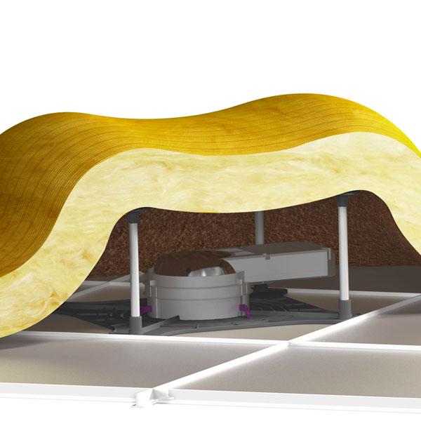 La solution d 39 installation des luminaires encastr s sommaire for Protection laine de verre